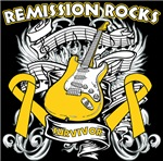 Remission Rocks Childhood  Cancer Shirts 