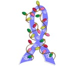 Christmas Lights Ribbon Prostate Cancer Gifts