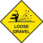 Yellow Loose Gravel Sign -