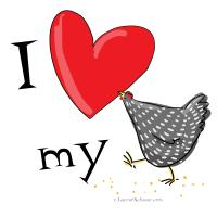 I heart my pet chicken 1
