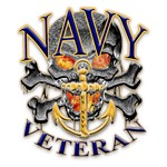 US Navy Veteran Skull