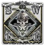 USN SWCC Silver Skull