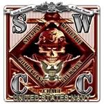 USN SWCC Metal Fast Boats Skull Rust