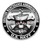 USN Aviation Maintenance Administrationman Skull