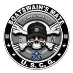 USCG Boatswains Mate Skull BM