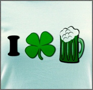 Funny St Particks Day I Love Beer Shirt