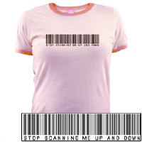 Stop Scanning Me Bar Code T-shirt