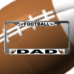 Football Themed License Plate Frames