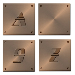 Faux Copper Decorative Ceramic Art Tiles