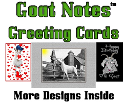 GoatNotes Greeting Cards