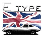E-type Jag uk flag