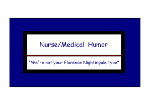 Humorous Nurse Gifts/Medical Gifts