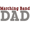 Marching Band Dad - Maroon & Grey