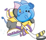 Lil Blue Elephant Hockey