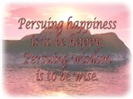 Persuing Happiness - Island Sunset