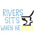 RIVERS SITS WHEN HE PEES
