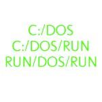 C:/DOS RUN
