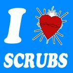 I Sacred Heart Scrubs