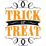 Trick or Treat elegant orange