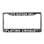 Croquet License Plate Frames