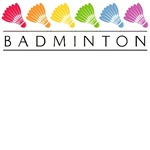 Rainbow Badminton T-Shirts and Gifts