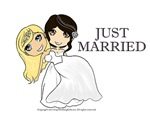 Just Married - Lesbian Wedding