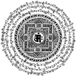 Asian Mantra Mandala