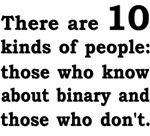 Binary - 10 kinds - black