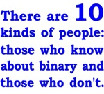Binary - 10 kinds - blue