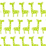 Soft Green Baby Giraffes