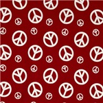 Bold Red Peace Symbols