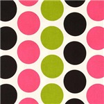 Bubble Gum and Chartreuse Dots
