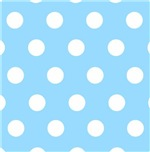 Blue and White Polkadots