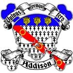 Addison Family Crest Skull