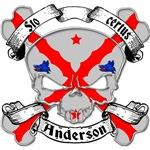 Anderson Family Crest Skull