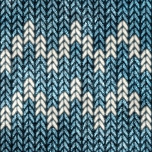 Blue Knit Graphic