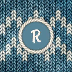 Monogram Blue Knit Graphic