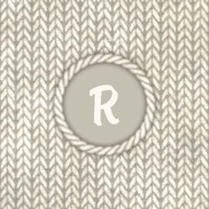 Monogram White Knit Graphic