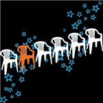 Row of Plastic Chairs T-shirts
