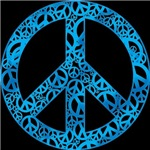 Blue Peace Symbols T-shirts & Gifts