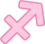 Pink Zodiac Symbol Sagittarius