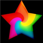 Swirly Rainbow Star T-shirts & Gifts