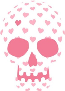 Heart Patterned Skull