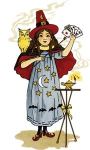 Vintage Girl Magician