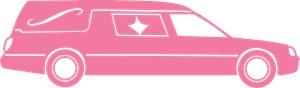 Cute Pink Hearse