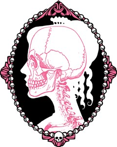 Pretty Pink Skull Cameo