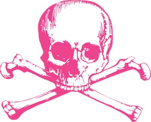 Pink Classic Skull And Crossbones