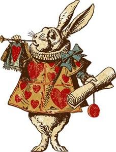 Alice White Rabbit Vintage
