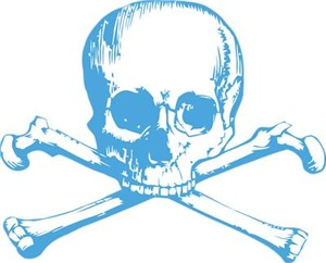 Classic Skull And Crossbones Blue