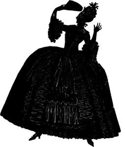 18th Century Lady Silhouette